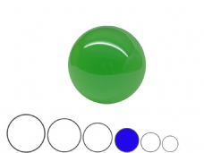 Jac Products Emerald Green Translucent 75mm Acrylic Contact Ball